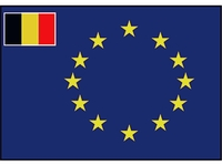 Europa-Rat kleine Flagge Belgien