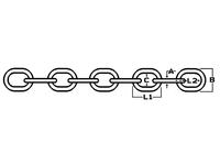 Precursor chain DIN 766 SS AISI 316