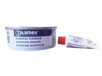 Polyester glass fibre filler