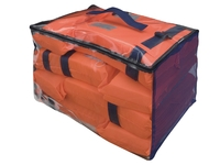 Bag with life jackets.