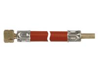 """Talamex gasinstallaties: Gasslang ¼"""" links binnendraad x 8mm pilaar glad"""