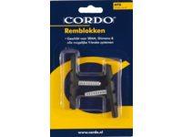 REMBLOK CORDO V-BRAKE ZWART MET STIFT 1SET(2)
