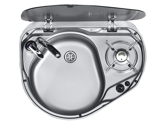 Octopusss plaque de cuisson au gaz combin l 39 vier - Evier plaque de cuisson integree ...