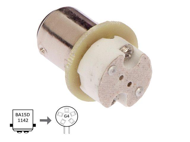 NauticLed adapter van Ba15D naar G4