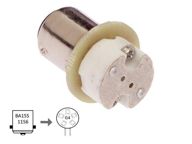 NauticLed adapter van Ba15S naar G4