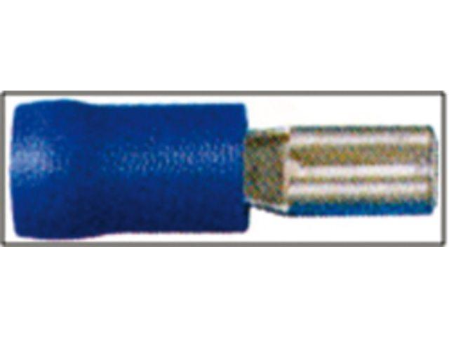 Tongstekkers en vlakstekkers 2.8 x 0.5 mm blauw