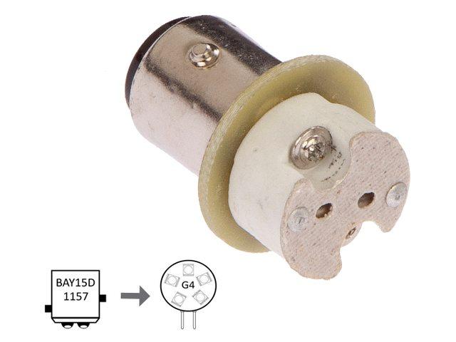 NauticLed adapter van Bay15D naar G4