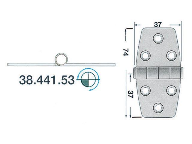 Charnière 2mm type 5