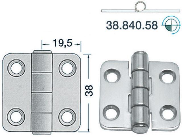Charnière 2mm Type 16