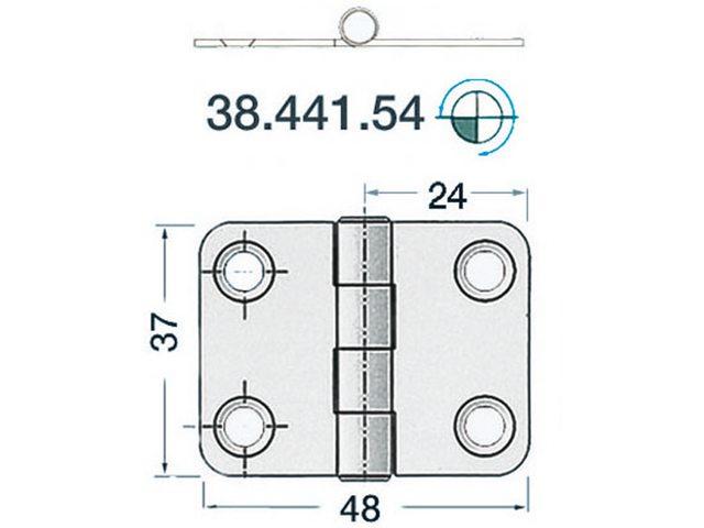 Charnière 2mm Type 6