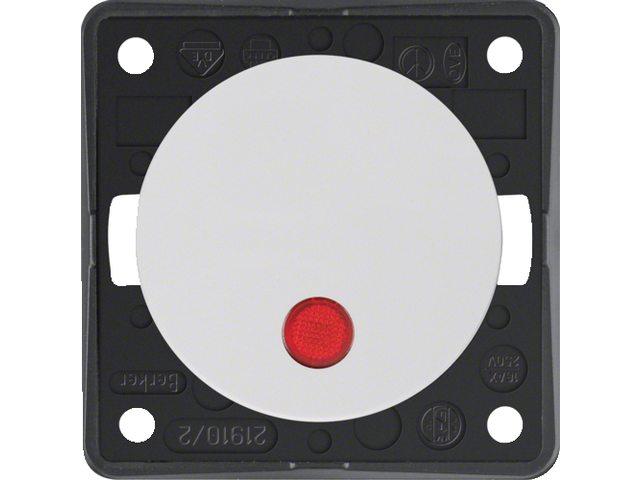 """Controle-uitschakelaar 2-polig met opdruk """"0"""", 230V"""