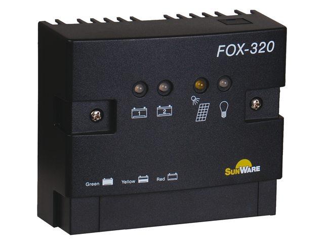 Zonnepaneel regelaar FOX-320 20A 2 accu