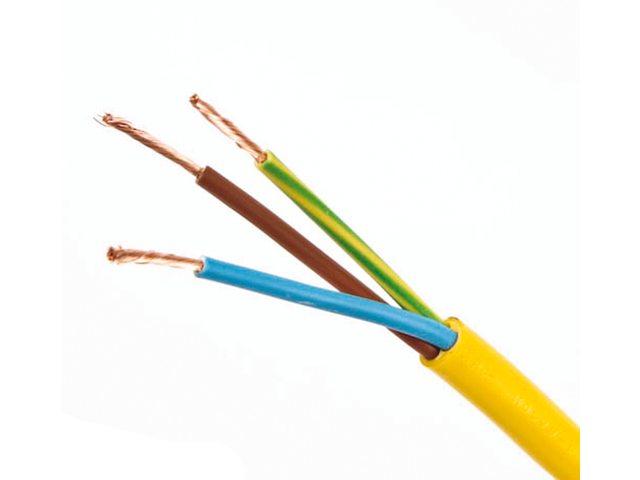 Des câbles d'intérieurs et extérieurs (230v) 3 brins: 1 terre, 1 bleu, 1 marron.