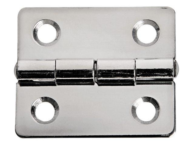 Charnière acier inoxydable 38x33mm épaisseur 1,3mm