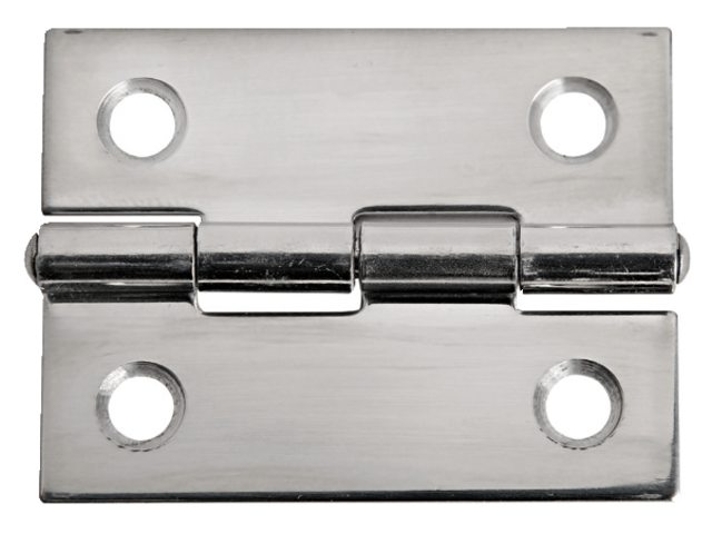 Charnière acier inoxydable 38x51mm épaisseur 1,3mm
