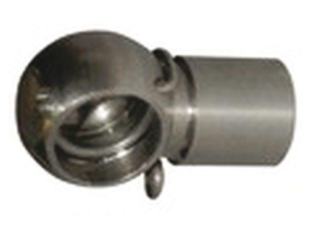 Tête acier inoxydable pour ressort à gaz à bille