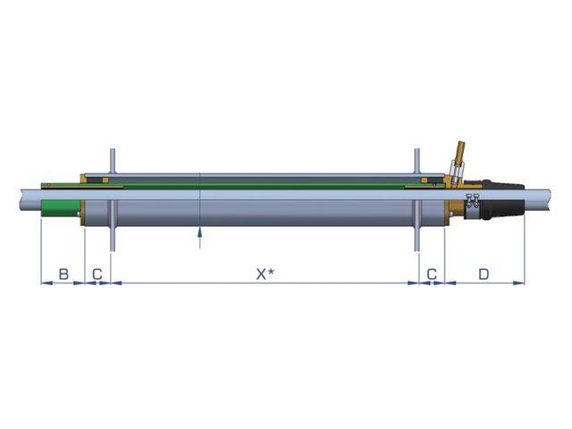 Tube d'étambot lubrifié à l'eau Optiprop BNF