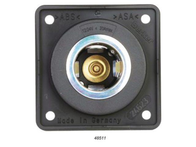 Wandcontactdoor 12/24V voor 20mm penstekker