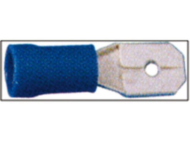 Tongstekkers en vlakstekkers 6.3 x 0.8 mm blauw