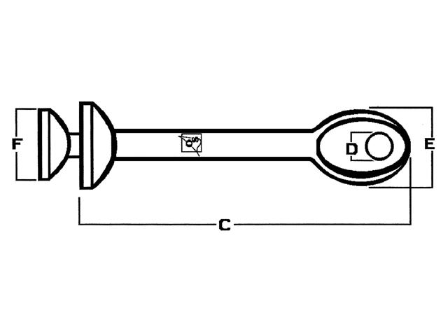 OS ballterminals met oog en cupel