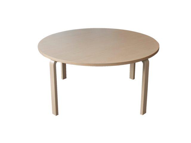 Groepstafel rond Solid Wood 2.0