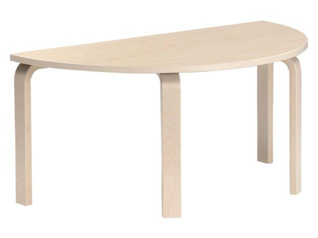 Groepstafel halfrond Solid Wood 2.0