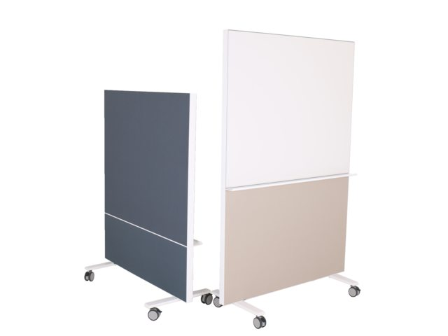 Verrijdbare akoestische whiteboard scheidingswand