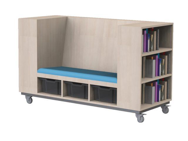 Boekenkast zitbank