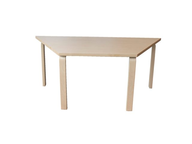 Groepstafel trapezium Solid Wood 2.0