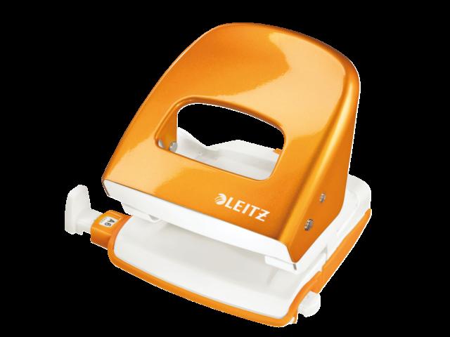 Perforator leitz 5008 wow 2-gaats 30vel oranje
