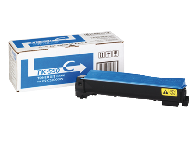 Toner kyocera tk-550c blauw