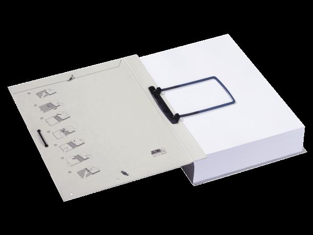 Dossiermap jalema extension met clip grijs