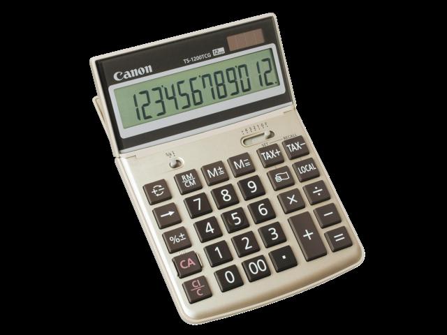 Rekenmachine canon ts-1200tcg