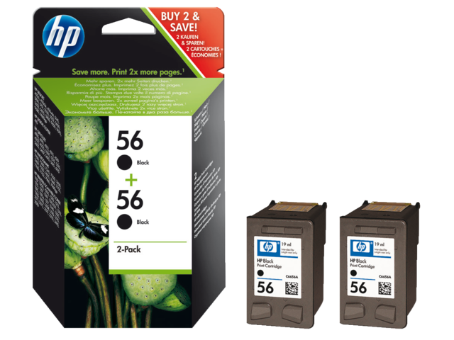 Inkcartridge hp c9502a 56 zwart 2x