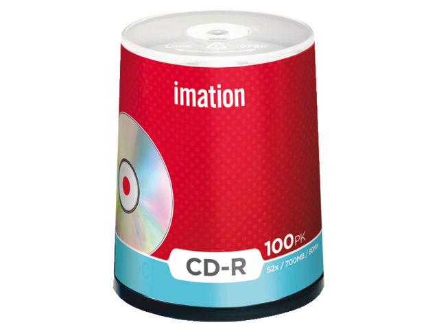 Cd-r imation 700mb 80min 52x spindel 100stuks
