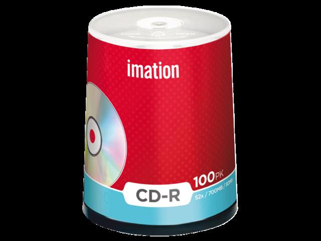 Cd-r imation 700mb 80min 52x spindel 100stuks