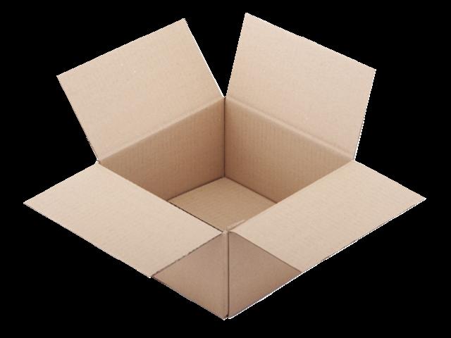 Verzenddoos cleverpack enkelgolf 200x200x110mm bruin 10stuks