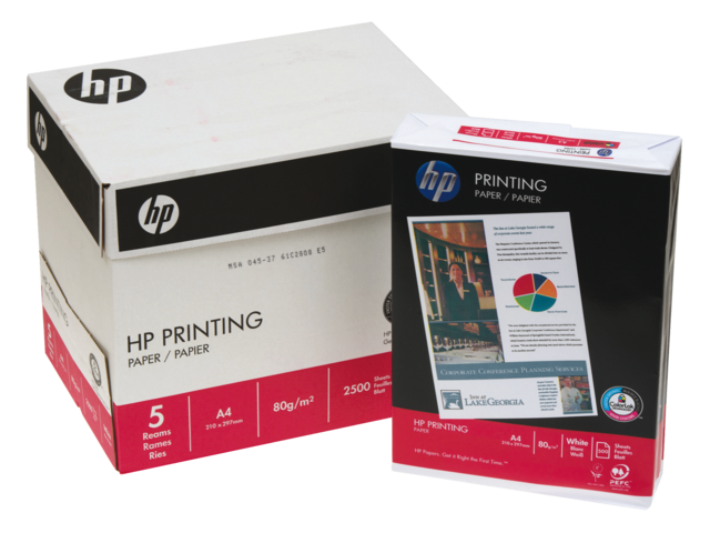 Kopieerpapier hp chp210 printing paper a4 80gr wit 500vel