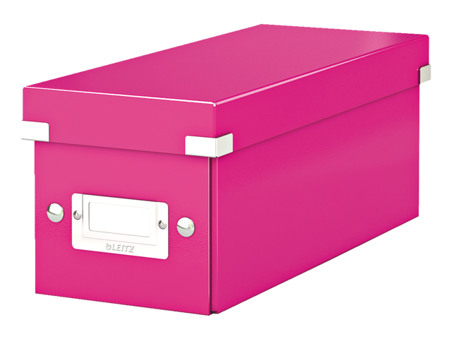 Cd box leitz click en store wow 143x136x352mm roze