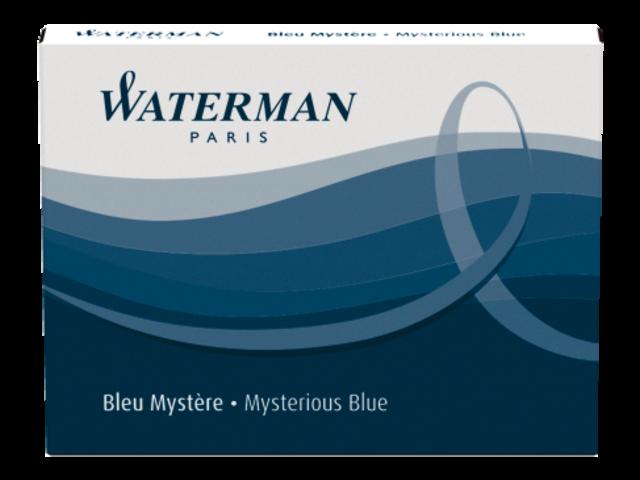 Inktpatroon waterman internationaal blauw-zwart