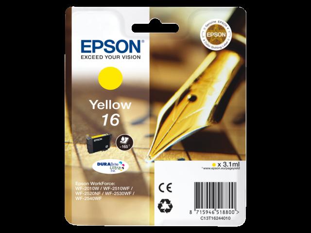 Inkcartridge epson t162440 geel
