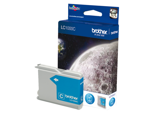 Inkcartridge brother lc-1000c blauw