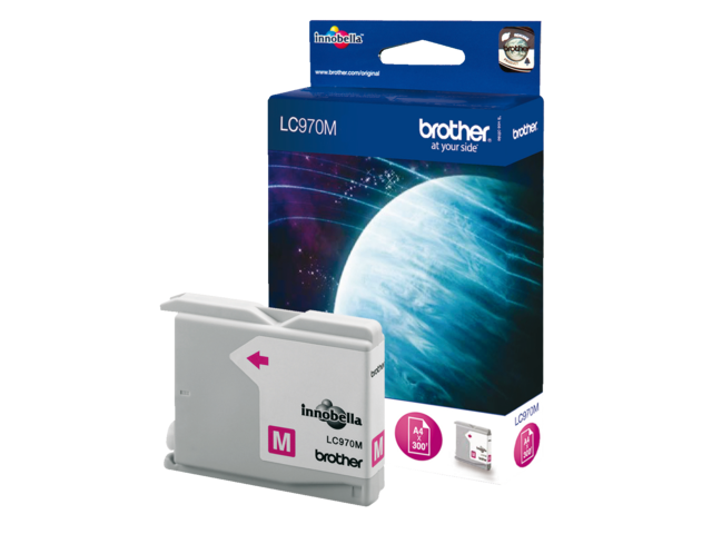 Inkcartridge brother lc-970m rood