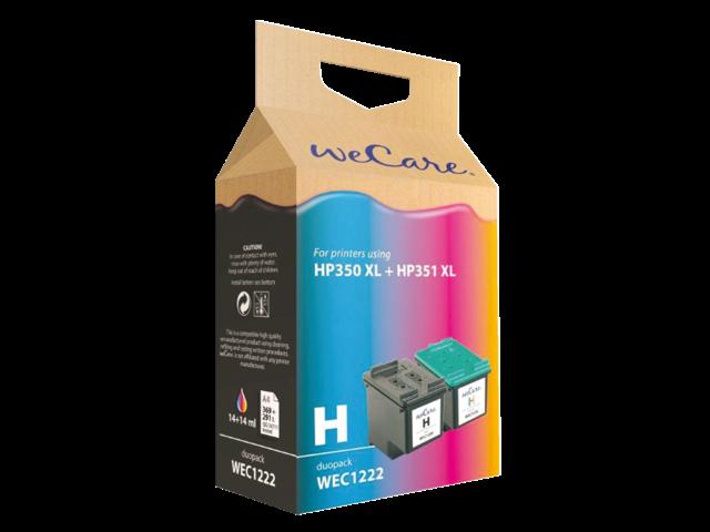 Inkcartridge wecare  350xl zwart + kleur hc