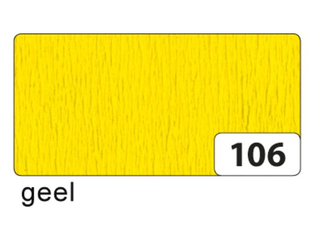 CREPEPAPIER FOLIA 250X50CM NR106 GEEL