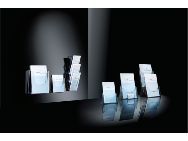 Folderstandaard sigel lh132 3xa5 staand transparant