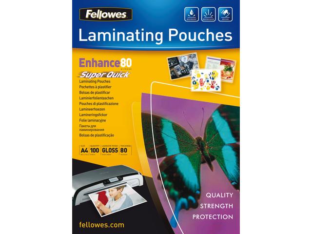 Lamineerhoes fellowes a4 superquick 2x80micron 100stuks