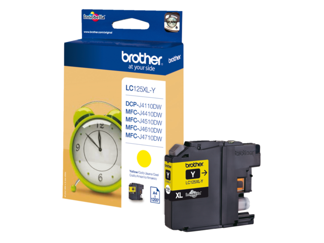 Inkcartridge brother lc-125xly geel hc