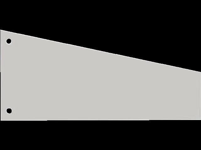 Scheidingsstrook elba trapezium 105x240x55mm grijs