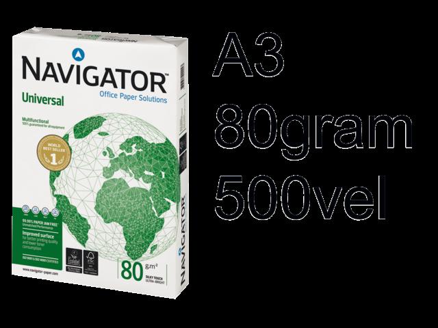 Photo: Kopieerpapier Navigator A3 80gr wit 500vel